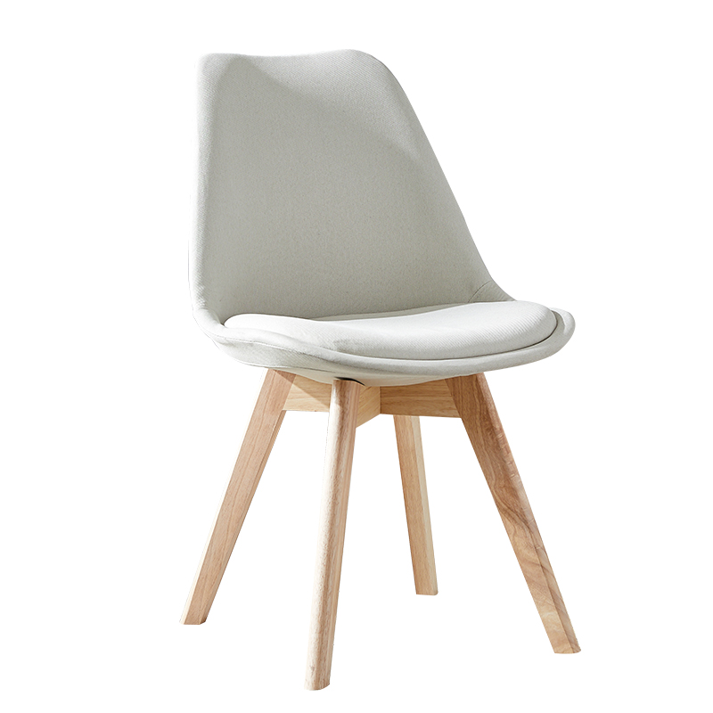 Nordic INS Fabric PP Plastic Solid Wood Chair Dining Chairs for Dining Rooms Restaurant Furniture Bedroom Dressing Dining Chairs