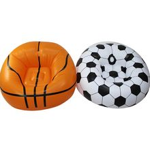 Inflatable Sofa Basketball/Football Shape Lounger Chair for Adult Kids Couch B36E