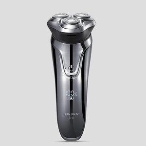 Image 2 - Xiaomi PINJING rasoir électrique sans fil 3D Smart rasoir rasoir USB charge IPX7 étanche 3 tête LED affichage pour hommes ES3