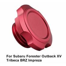 1 шт. автомобиль красный 67*41*32 мм моторное масло Топливный наполнитель крышка топливного бака легкая алюминиевая заготовка для большинства моделей Subaru