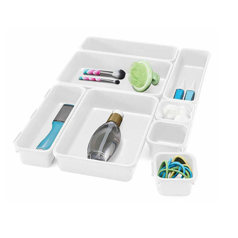 Organizer Box Trays Storage Kitchen Desk Box Drawer Organization Tray Cutlery
