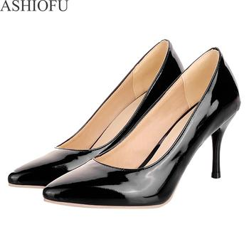 ASHIOFU Handmade Womens High Heel Pumps Hot Style Slip-on Party Prom Dress Shoes Fashion Evening Court 3 Color Optional - discount item  3% OFF Women's Shoes