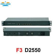 Причастником 19 дюймов 1U стоечный сервер Двухъядерный Intel Atom D2550 брандмауэр ПК Barebone система 4 Lan Поддержка pfsense