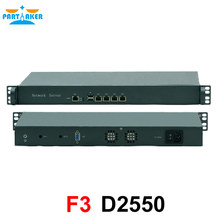 Deelgenoot 19 Inch 1U Rack Server Intel Atom D2550 Dual Core Firewall Pc Barebone Systeem 4 Lan Ondersteuning Pfsense(China)