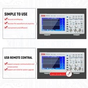 Image 5 - Oscilloscope numérique UTD2102e, UNI T MHz, analyseur logique, bande passante 2 canaux, stockage 100 Ms/S, Oscilloscope LCD 7 pouces TFT, 500