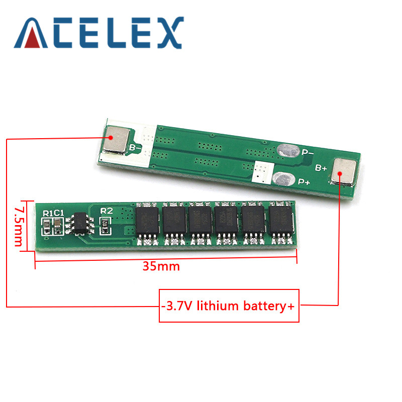 1S 7.5A 10A 15A 3.7V Li ion 3 4 6MOS BMS PCM Battery Protection Board PCM for 18650 Lithium Lion Battery|Instrument Parts & Accessories|   - AliExpress