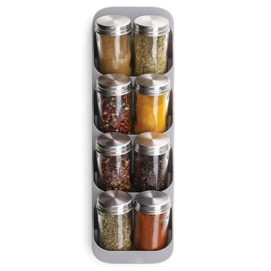 Spice Storage Rack and Kitchen Organizer with 8 Holes for Storage of Spice Jars and Bottles 7