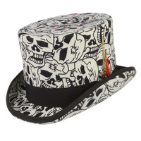 100% Wool Felt Skull Feather Decor Steampunk Formal Squire Top Cap Magician Fedoras Retro President Lincoln Gentleman Bowler Hat