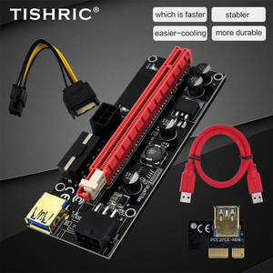 Image 1 - TISHRIC 009S PCI E Riser Card Extender USB 3.0 Adapter Cable PCI 1X 4X 8X 16X Extender riser for video card For GPU Miner Mining