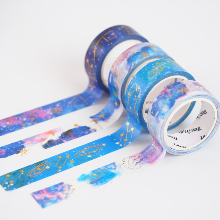 1.5cm Starry Sky Star Washi Tape Adhesive Tape DIY Scrapbooking Sticker Label Masking Craft Tape