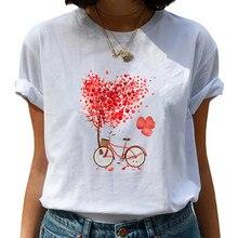 Vogue bicicleta t camisas moda feminina impressão gráfica harajuku casual coreano topos estilo gráfico t camisas feamle roupas mulher