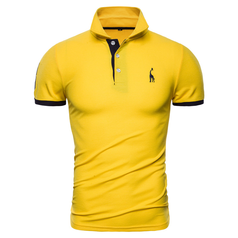 Dropshipping 13 Colors Brand Quality Cotton Polos Men Embroidery Polo Giraffe Shirt Men Casual Patchwork Male Tops Clothing Men 8