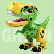 Metal Dinosaur Action Toy Figures Alloy Body Dinosaur Model Tyrannosaurus Toys with Sound&Light Early Education For Children Kid недорого