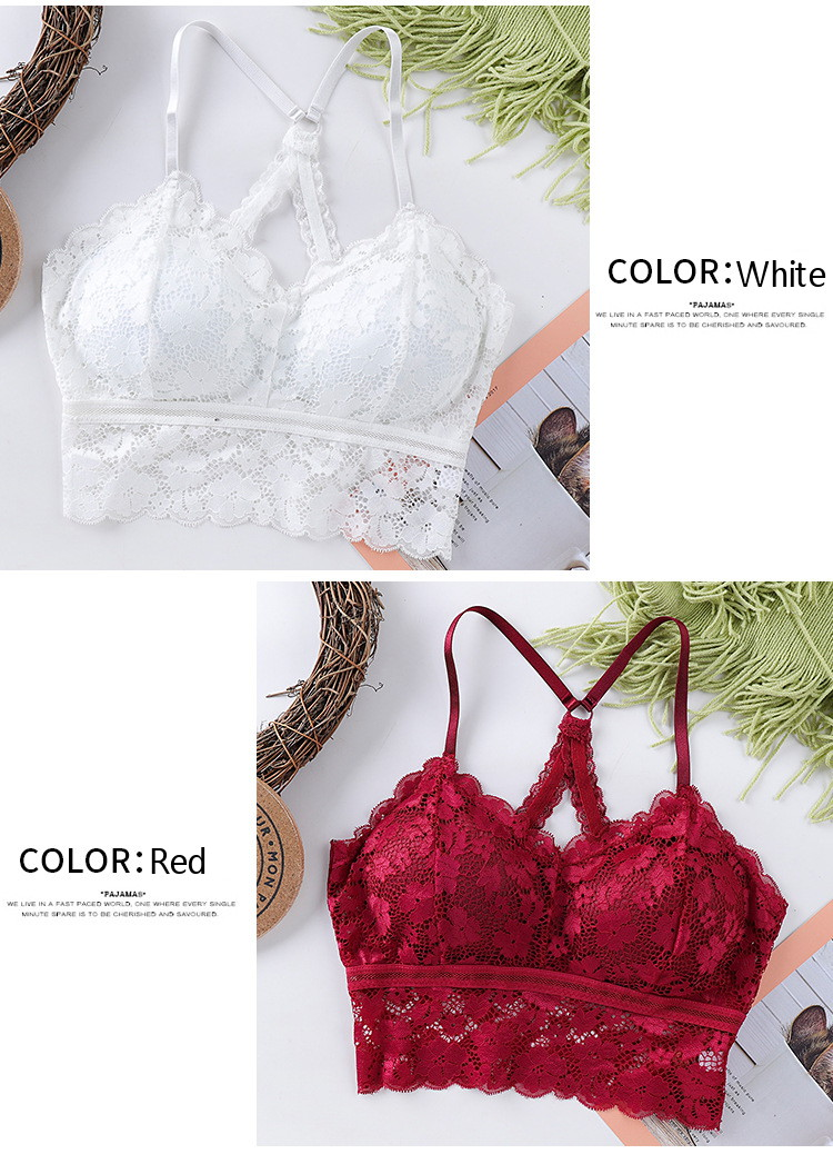 2020 New Arrival Women Lace Bra Wrapped Chest Female Bralette Push Up One-Piece Crop Wrap Tube Top Plus Size Lingerie Underwear