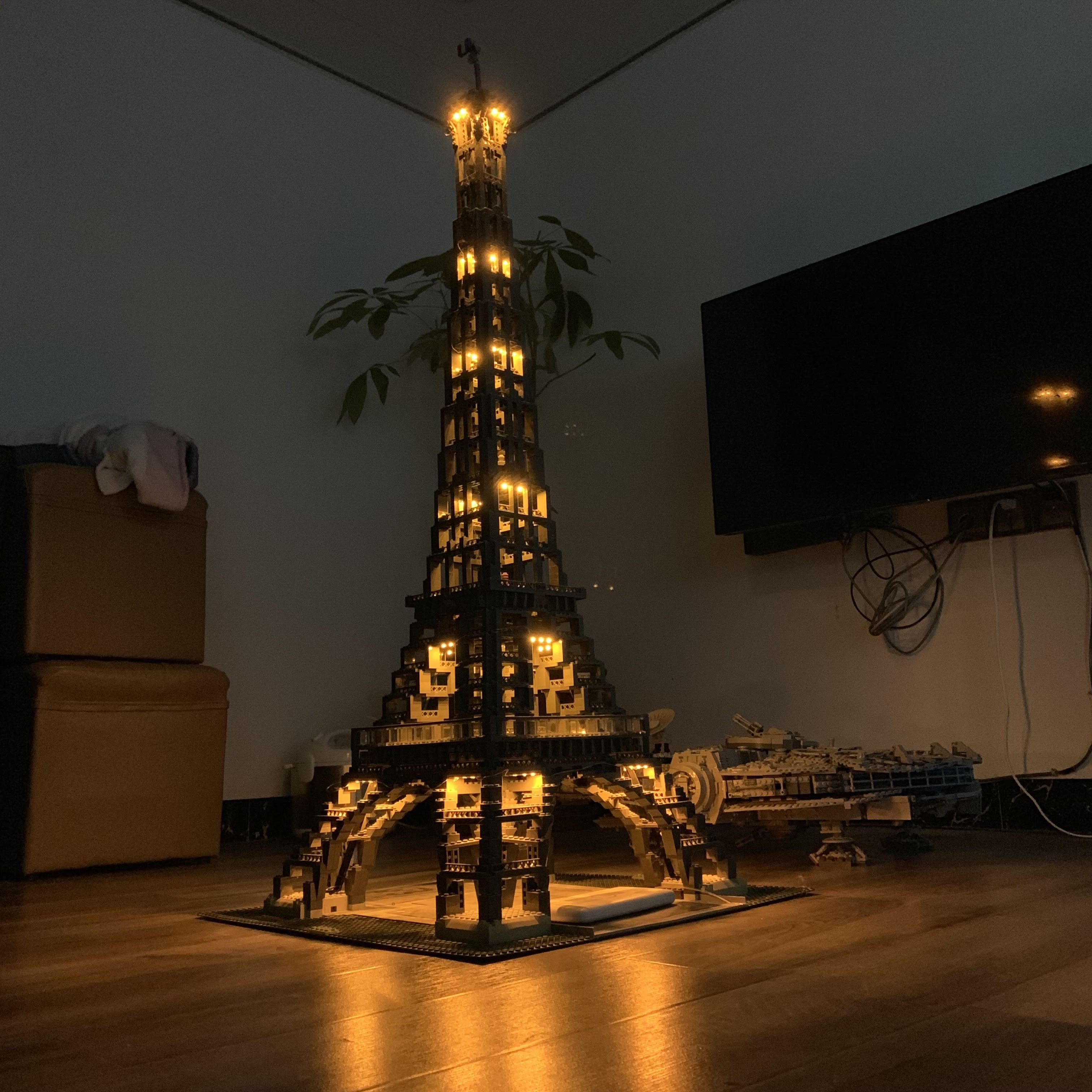 Paris tour Eiffel créateur Expert lumière LED ensemble pour Compatible IEGOset 10181 17002 blocs de construction briques jouets cadeaux