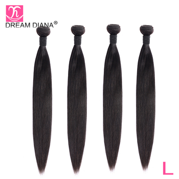 DreamDiana Remy Hair Peruvian Straight Hair 1/3/4 Bundles 8-30Natural Black Hair Dyable Bundles 100% Human Hair Extensions L image