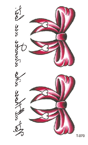 Temporary Tatoo Fake Tattoo Sticker Bow Knot Letter Tatto Tatouage Waterproof Tattoos Stickers Hand Foot Art For Women Girl