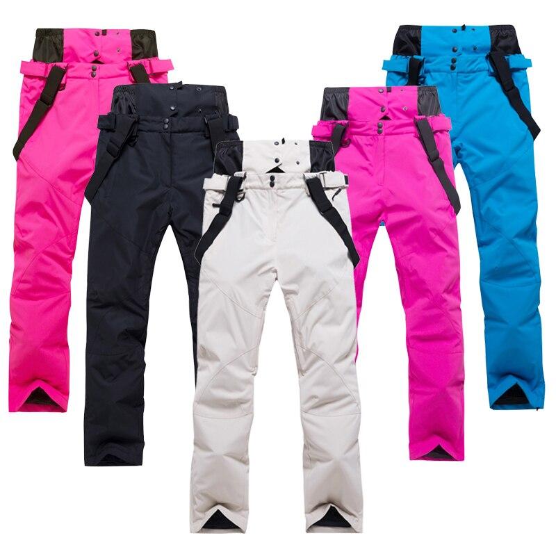 2019лыжные брюки мужские и женские уличные высококачественные ветронепроницаемая Водонепроницаемая теплая Пара зимние брюки Зимние Лыжные
