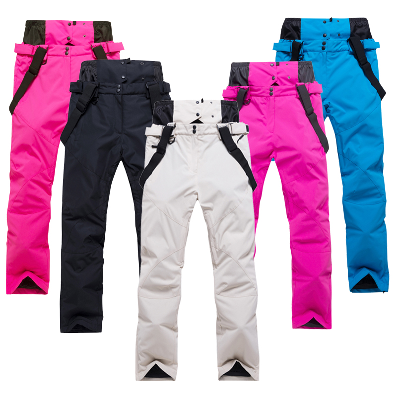 2019Ski pantalon hommes et femmes en plein air de haute qualité coupe-vent imperméable chaud Couple pantalon de neige hiver Ski Snowboard pantalon marque