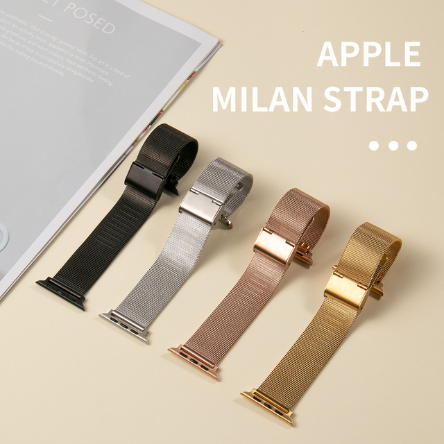Milanese Loop Bracelet Correa for Apple Watch Band Series 6 SE 5 44mm 42mm Watch Strap for Iwatch 4 3 2 1 38mm 40mm Accessories 3