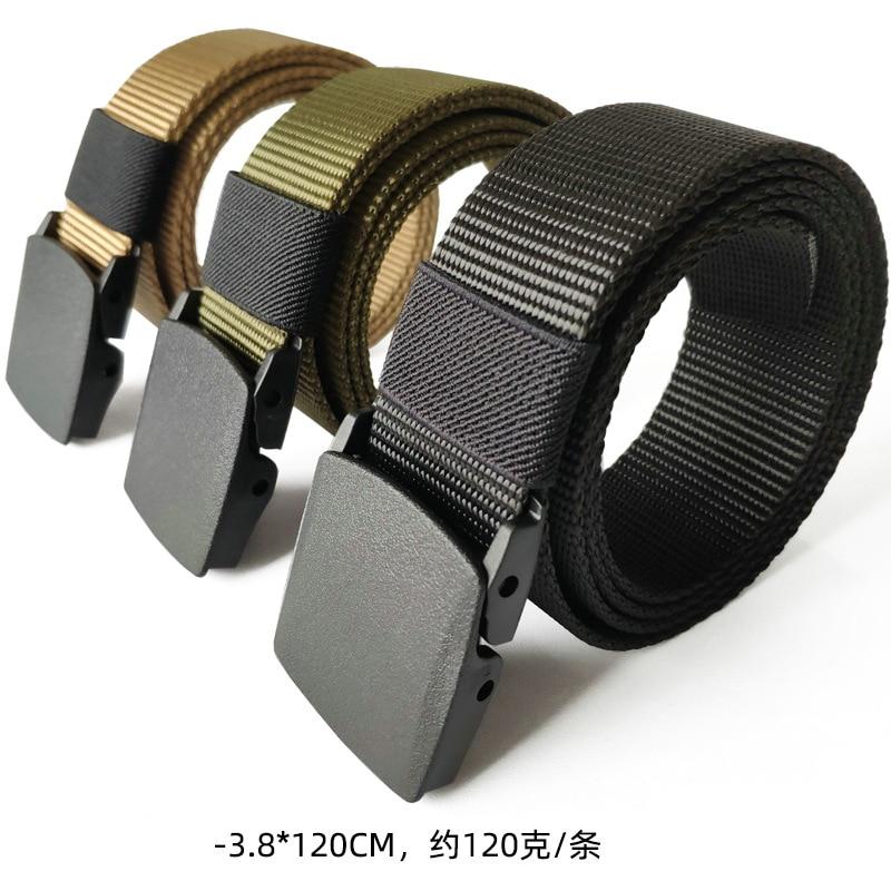 120x3.5cm Men's Web Belt Waisttrainer Outdoor Sports Military Tactical Nylon Canvas Waistband Lumbar Waist Support Fitness Belt