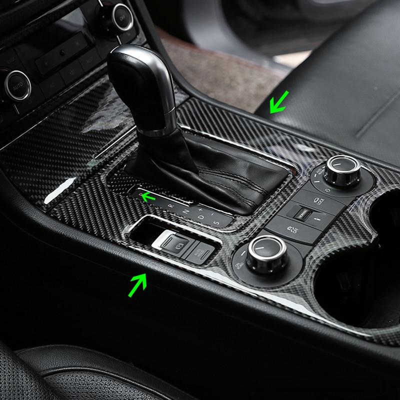 Car Carbon Fiber Interior Center Control Gear Shift Panel Water Cup Holder Cover Trim For VW Touareg 2011 - 2015 2016 2017 2018