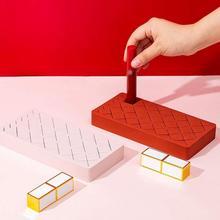Wonderlife stojak na szminki Multi Grid pulpit kosmetyki wykończenie Box Lip Glaze pudełko na szminki kreatywny stojak na szminki tanie tanio CN (pochodzenie) Przechowywanie posiadaczy i stojaki 19*9 5*2 5cm 1pcs