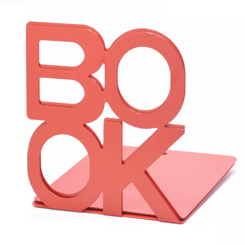 2PCS Bookend School Metal Stand Home Stationery Desktop Support Portable Anti-skid Universal Office Holder Organizer Letter