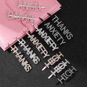 Hair Jewelry Headwear Clips Barrettes Words Wedding Girls 25-Fashion And Women Party