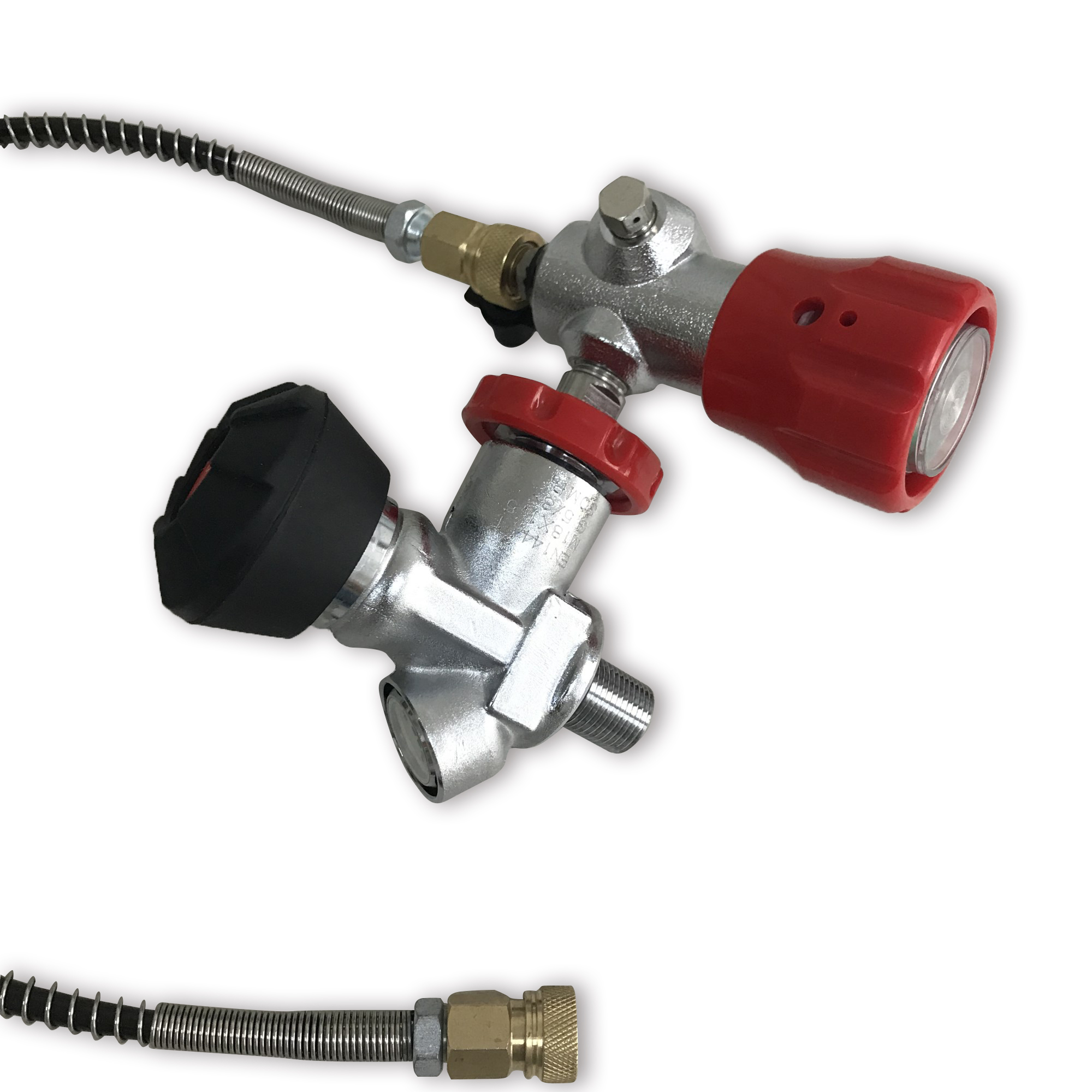 AC201 Pcp Gauge Valve For Scuba Diving Tank 4500psi And Filling Station With 50cm Hose For Pcp Air Rifle Compressed Cylinder