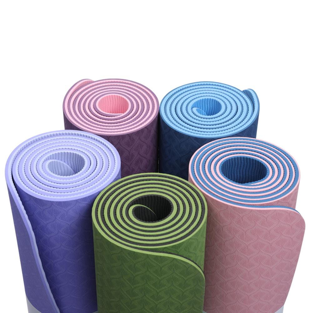 Non-Slip TPE Yoga Mat With Position Line 10