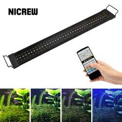 NICREW 76-96cm Aquarium LED Beleuchtung 24/7 Stunde Automatisierten mit Controller Aquarium Licht für Aquarium 110V -240V