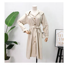 Mooirue Safari Harajuku Trench Coat With Sashes Women Vintage Streetweaar Korean  Solid Button Casual Elegant Cardigan Long