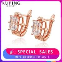 Xuping personnalisé boucles d'oreilles cerceau bijoux populaires exquis à la mode anniversaire famille fête cadeau pour les femmes SS5.3-97960