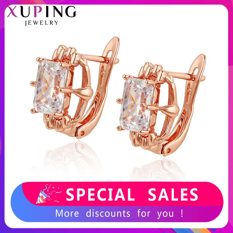 Xuping  Personalized Hoop Earrings Popular Jewelry  Exquisite Trendy Birthday Family Party Gift For Women SS5.3-97960