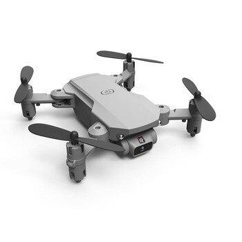 XKJ 2021 New Mini Drone 4K 1080P HD Camera WiFi Fpv Air Pressure Altitude Hold Black And Gray Foldable Quadcopter RC Dron Toy 4