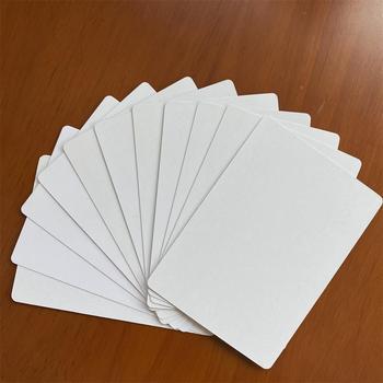 Białe karty 50 kart dużo białe karty do gry standardowy zestaw Black Lotus najwyższej jakości karty do gry gry planszowe Poker tanie i dobre opinie BLINKMOTH 11 lat 0-30 minut Zaawansowane 0 32mm Germany Black Core Paper Pass 63X88mm Standard Size