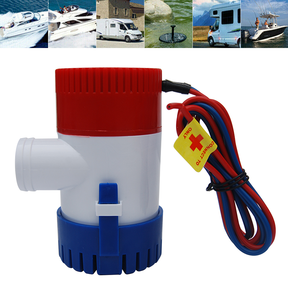 12V <font><b>1100</b></font> <font><b>GPH</b></font> Boat <font><b>Bilge</b></font> <font><b>Pump</b></font> Electric Marine Submersible Water Sump <font><b>Pump</b></font> With Float Switch For Boat image