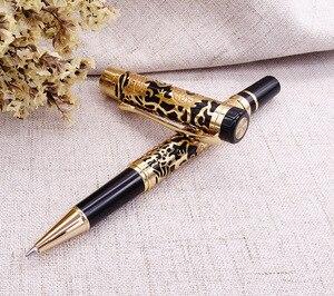 Image 5 - Jinhao 5000 klasyczny luksus metalowe pióro kulkowe piękny smok tekstury rzeźba, czarne i złote pióro atramentowe dla biznesu biurowego
