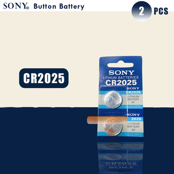 2 uds SONY Original cr2025 pilas de botón cr2025 3V batería de botón de litio para reloj con calculadora Balanza de peso