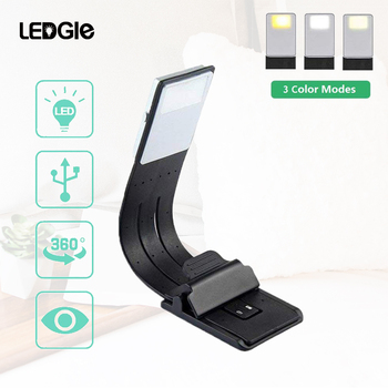 LEDGLE USB Rechargeable Reading Lamp Compact Desk Light Flexible Mini LED Lights Clip-on Table Flashlight for Kindle and Books 1