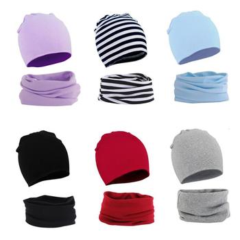 Dziecko nowe czapki zimowe zestaw szalików dzieci dzianiny kapelusz szalik komin zestaw szalików s dzieci ciepłe dziecko Plus aksamitna gruba miękka czapka chłopcy dziewczęta czapki tanie i dobre opinie CN (pochodzenie) COTTON POLIESTER Dopasowana Unisex Stałe baby 0-3 miesięcy Dzieci w wieku 4-6 miesięcy 7-9 miesięcy