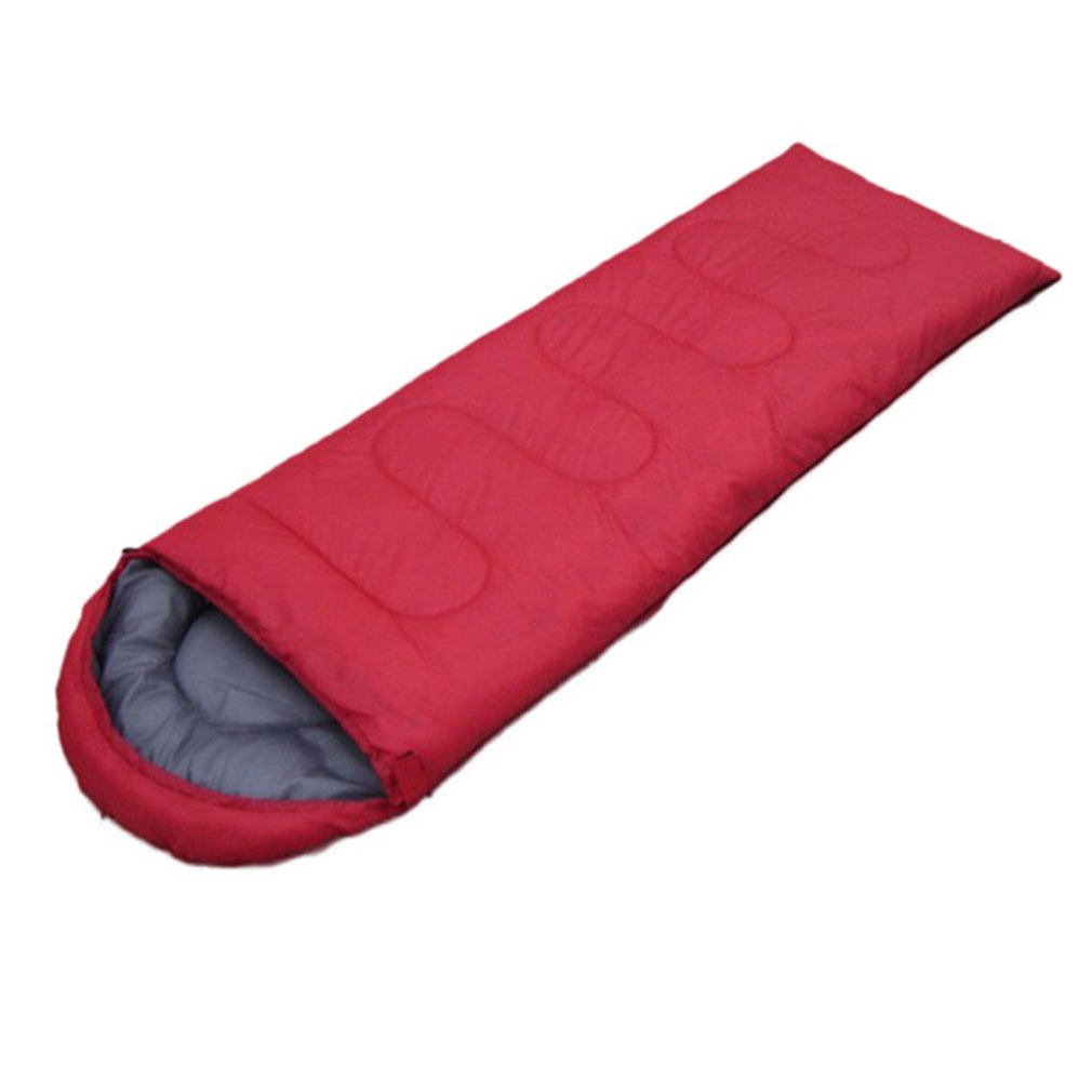 Umschlag Outdoor Camping Erwachsene Schlafsack Tragbare Ultra Licht Wasserdichte Reise Wandern Schlafsack Mit Kappe drop verschiffen
