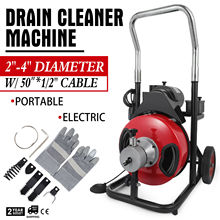 50FT*1/2'' Drain Auger Pipe Cleaner Cleaning Machine Convenient Set Equipment