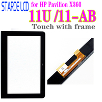 11.6''for HP Pavilion X360 11U 11 U 11 U054TU 11 ab Yellow Flex Cable Connectors Touch Screen Digitizer with Frame