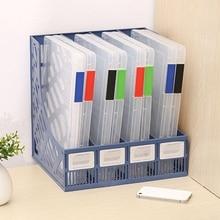 Folder Storage-Box File Office Transparent Plastic A4 School Portable Sorting