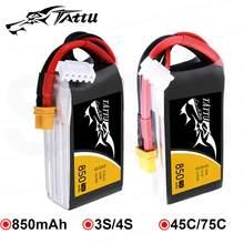 Ace Tattu LiPo аккумуляторная батарея 850 мАч 75C 45C 3S 4S 1P для RC FPV Racing Drone Quadcopter