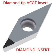 Vcmt110304 Алмазная ЧПУ карбидная вставка vcgt vcmw110308 vcmt