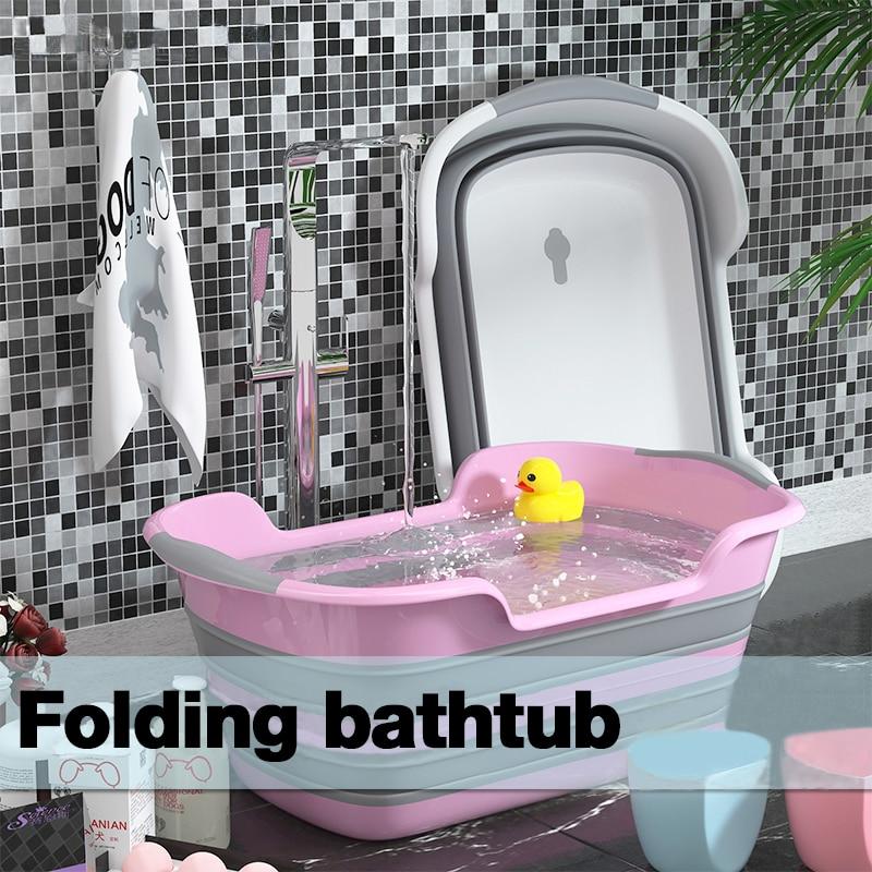 Newborn Baby Folding Bath Tub Pet Folding Bathtub Storage Non-Slip Cat Dog Bath Tubs Safety Children Tub Bathroom Accessorie