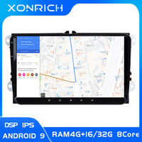 2 Din Android 9 Car Multimedia GPS Navigation For Amarok Volksagen VW Passat B6 golf 56 Skoda Octavia 2 Superb 2 Seat Leon radio